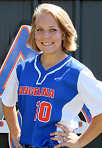 GHS graduate Shelby Bruner is a member of Angelina College's National Championship softball team. (Photo by Angelina College)